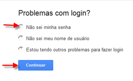 recuperar senha gmail