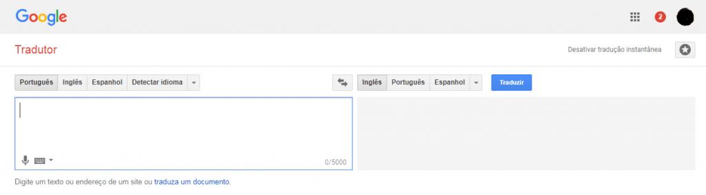 acesse google tradutor
