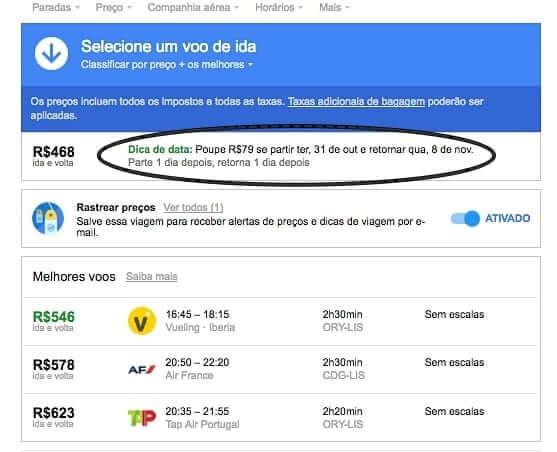 google flights dicas