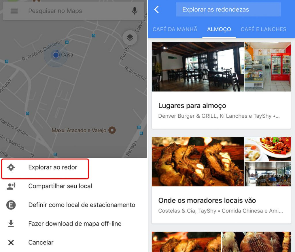 explorar ao redor google maps
