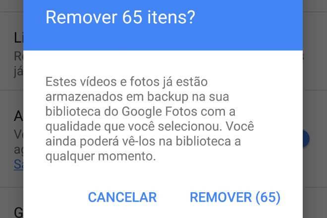 google fotos remover itens