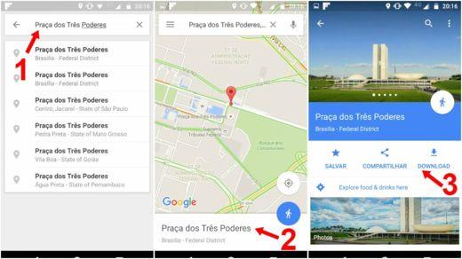 google maps offline como usar