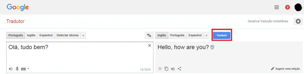 traduzir com google tradutor