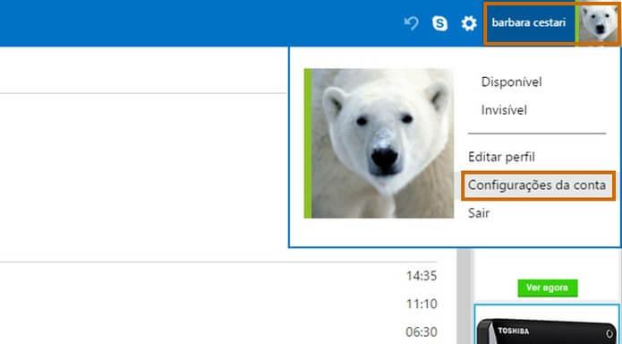 Outlook entrar sem senha - Passo 1
