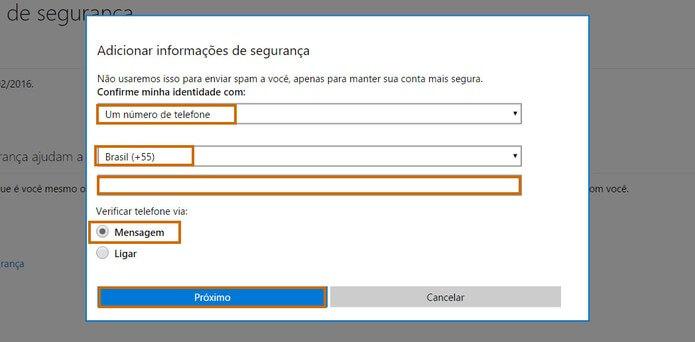 Outlook entrar sem senha - Passo 4