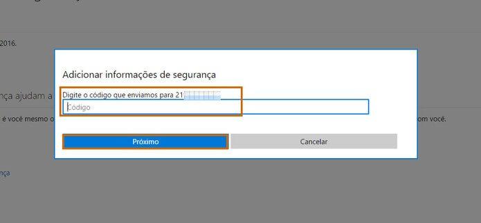 Outlook entrar sem senha - Passo 5