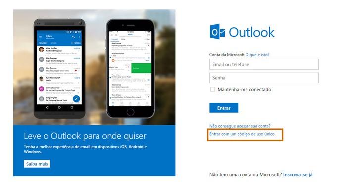 Outlook entrar sem senha - Passo 6