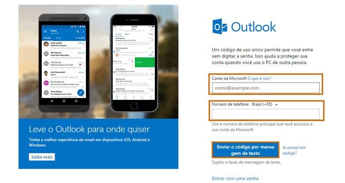 Outlook entrar sem senha - Passo 7