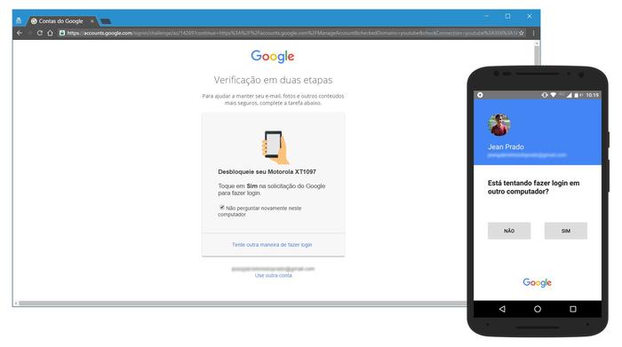 Recuperação da conta google com celular