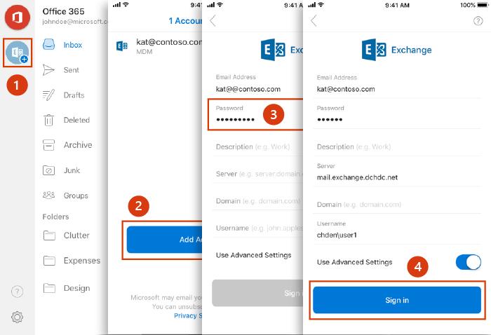 Como entrar em outra conta no aplicativo Hotmail Outlook